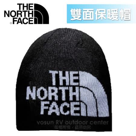 【美國 The North Face】新款 PrimaLoft ®雙面保暖帽.羊毛帽.保暖針織帽.保暖舒適/A5WG 黑/灰白