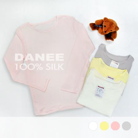 岱妮蠶絲 - (FZ3060E)兒童長袖衛生衣/42針雙面70G (鵝黃)