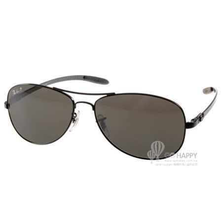 RayBan太陽眼鏡 碳纖維水銀鏡面偏光款(黑) #RB8301 002K7