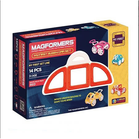 【Magformers 磁性建構片】寶貝金龜車14pcs-紅 ACT06104