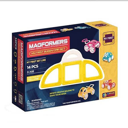 【Magformers 磁性建構片】寶貝金龜車14pcs-黃 ACT06104