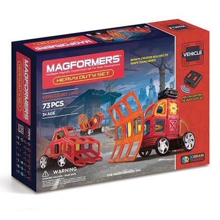 【Magformers 磁性建構片】自動重型車73pcs ACT06098