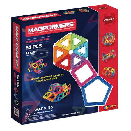 【Magformers 磁性建構片】磁性建構片-62片裝 ACT05601