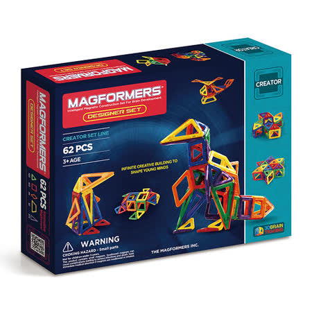 【Magformers 磁性建構片】設計家62pcs ACT05985