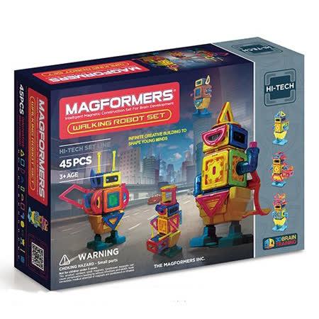 【Magformers 磁性建構片】行動機器人45pcs ACT06102