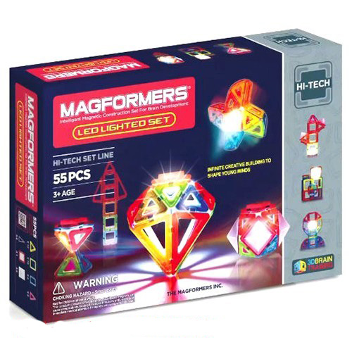 ~Magformers 磁性建構片~LED炫光組55pcs ACT06067