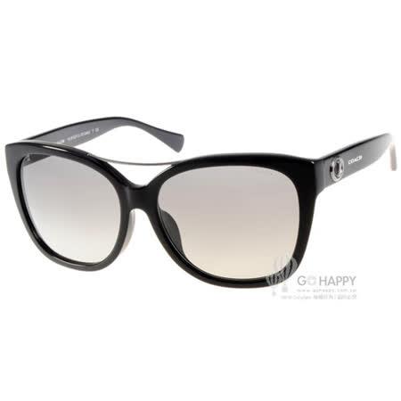 COACH太陽眼鏡 潮流大框微貓眼(黑) #COS8122F 500211