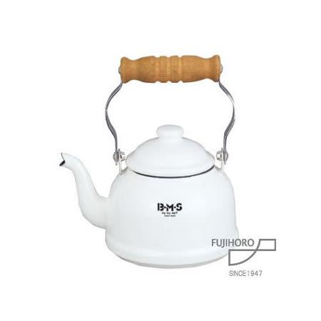 【富士琺瑯FUJIHORO】 白色迷你琺瑯茶壺 / BM-0.9K.W