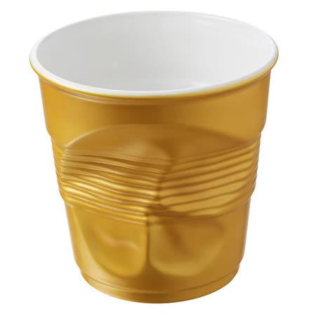 法國 REVOL FRO 消光金 陶瓷皺折杯 80cc