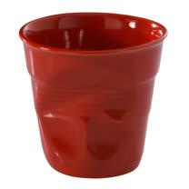 法國 REVOL FRO 紅色 陶瓷皺折杯 80cc