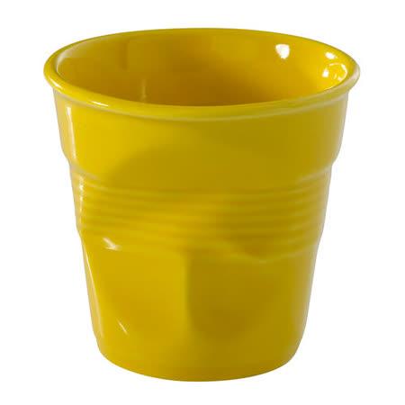 法國 REVOL FRO 黃色 陶瓷皺折杯 80cc