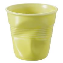 法國 REVOL FRO 柔黃色 陶瓷皺折杯 80cc
