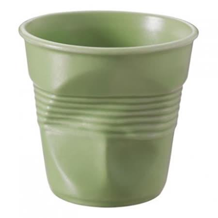 法國 REVOL FRO 柔綠色 陶瓷皺折杯 80cc
