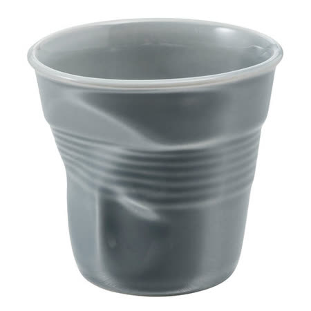 法國 REVOL FRO 灰色 陶瓷皺折杯 80cc