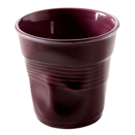 法國 REVOL FRO 紫紅色 陶瓷皺折杯 180cc