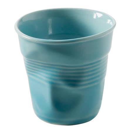 法國 REVOL FRO 藍色 陶瓷皺折杯 180cc