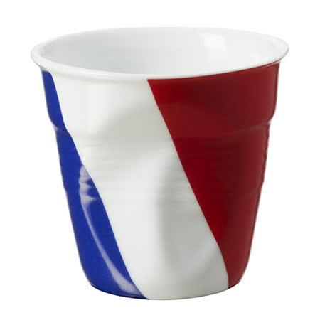 法國 REVOL FRO 法國國旗陶瓷皺折杯 80cc
