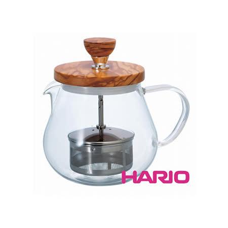 HARIO 橄欖木濾壓茶壺450ml TEO-45-OV