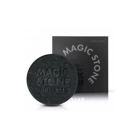 韓國 APRILSKIN-MAGIC STONE 100%天然魔法石潔顏皂(100g) -日用-黑竹炭