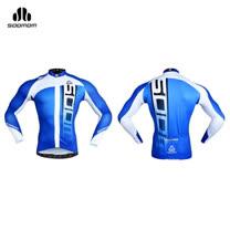 (男) SOOMOM 麥克長袖車衣 -速盟 自行車 單車 防曬 白藍黑