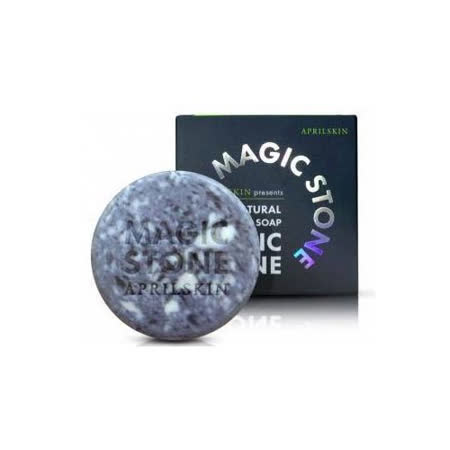 韓國 APRILSKIN-MAGIC STONE 100%天然魔法石潔顏皂(100g) -夜用-綠大理石紋