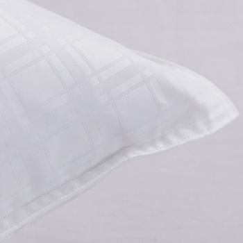 【鴻宇HONGYEW】100%天然水鳥羽毛/緹花格紋表布/台灣製造/愛情海羽毛枕