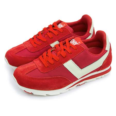 【女】PONY 繽紛韓風復古慢跑鞋 SOHO 美國系列 紅米 53W1SO79RD
