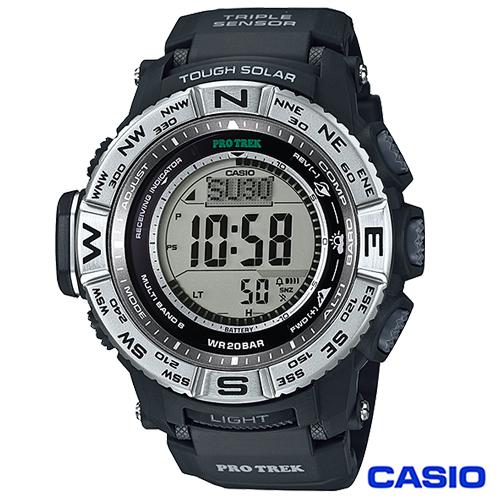 CASIO卡西歐 極地撼動多 太陽能電波登山腕錶 PRW~3500~1