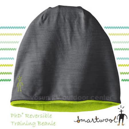 【美國 SmartWool 】PhD® Reversible Training Beanie 美麗諾羊毛 雙層雙面保暖帽/羊毛帽/針織帽/登山健行_灰/綠 SW0SC186
