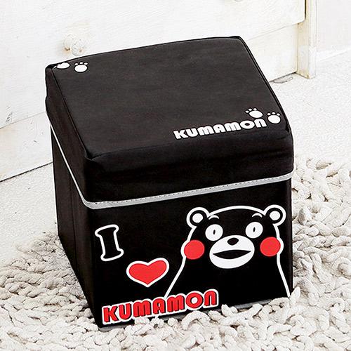 Kumamon酷MA萌 兒童玩具衣物收納椅/收納箱