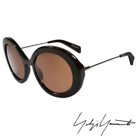 Yohji Yamamoto 山本耀司 前衛復古圓形太陽眼鏡-咖啡-YY5001-115
