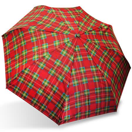【rainstory】蘇格蘭紋抗UV隨身自動傘