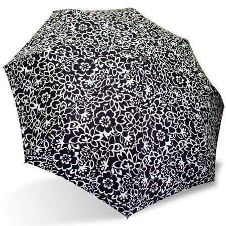 【rainstory】黑白花彩抗UV隨身自動傘