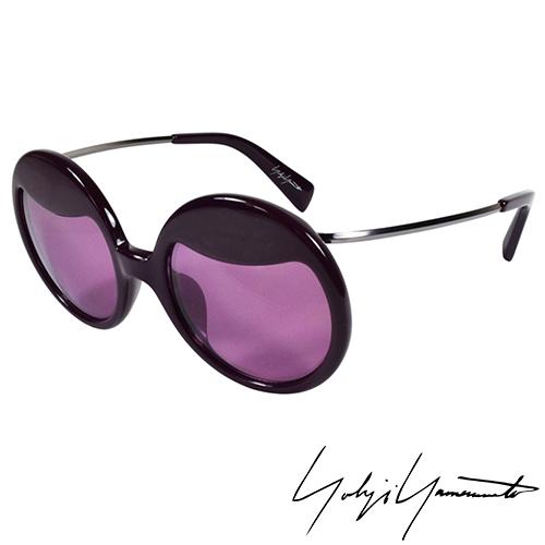 Yohji Yamamoto 山本耀司 復古圓形太陽眼鏡~紫色~YY5002~771