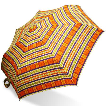 【rainstory】微醺格紋抗UV隨身自動傘