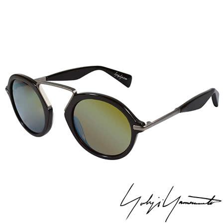 Yohji Yamamoto 山本耀司復古圓形鍍水銀膜太陽眼鏡-咖啡-YY5009-115