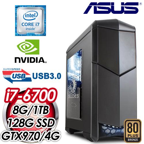 華碩H170平台~蓮華聖擊~Intel i5~6700四核 TURBO GTX970~4G