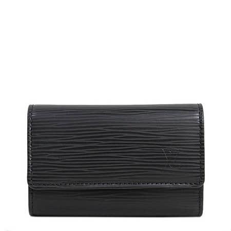 Louis Vuitton LV M63812 EPI 水波紋皮革六扣鑰匙包.黑_預購