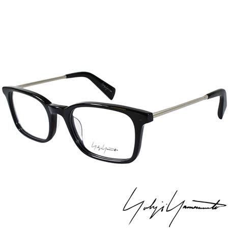 Yohji Yamamoto 山本耀司時尚方框金屬混搭造型光學眼鏡-黑 YY1007-019