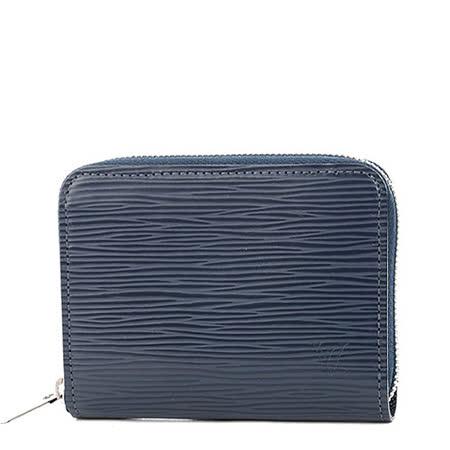 Louis Vuitton LV M60384 EPI 水波紋皮革信用卡拉鍊零錢包.靛藍_預購