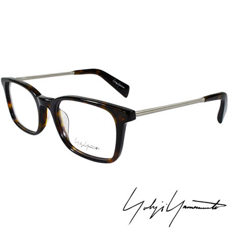 Yohji Yamamoto 山本耀司時尚方框金屬混搭造型光學眼鏡-琥珀 YY1007-127