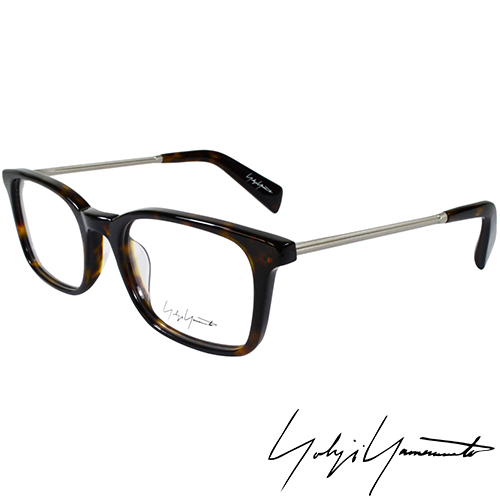 Yohji Yamamoto 山本耀司 方框金屬混搭 光學眼鏡~琥珀 YY1007~127