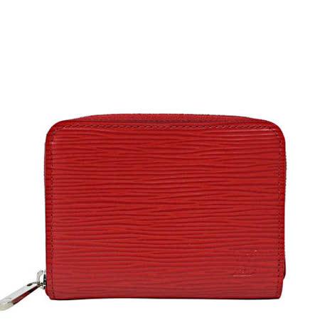 Louis Vuitton LV M60720 EPI 水波紋皮革信用卡拉鍊零錢包.紅_預購