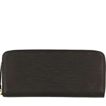 Louis Vuitton LV M60915 Clemence EPI 水波紋皮革拉鍊長夾.黑_預購