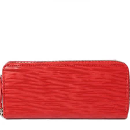 Louis Vuitton LV M60913 Clemence EPI 水波紋皮革拉鍊長夾.紅_預購