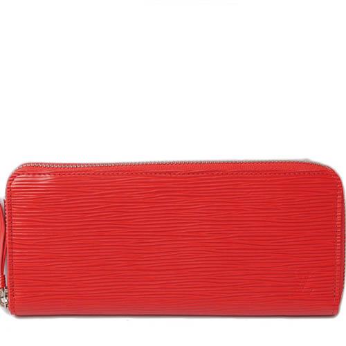 Louis Vuitton LV M60913 Clemence EPI 水波紋皮革拉鍊長