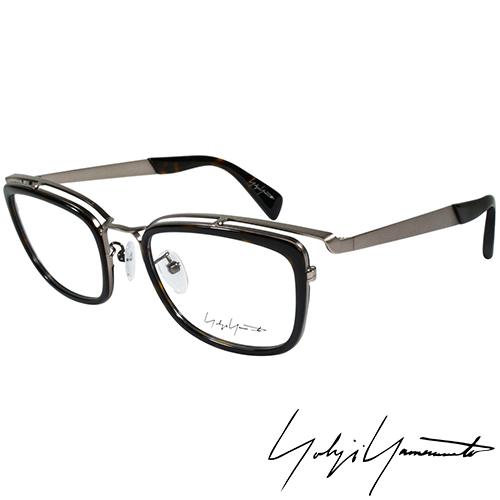 Yohji Yamamoto 山本耀司 方型 前衛光學眼鏡~黑銀~YY1021~019