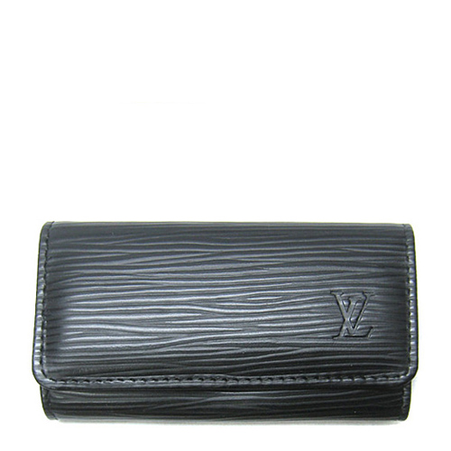 Louis Vuitton LV M63822 EPI 水波紋皮革四扣鑰匙包.黑_