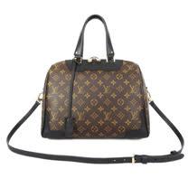 Louis Vuitton LV M50058 RETIRO 經典花紋附鎖組兩用手提包.黑邊_預購