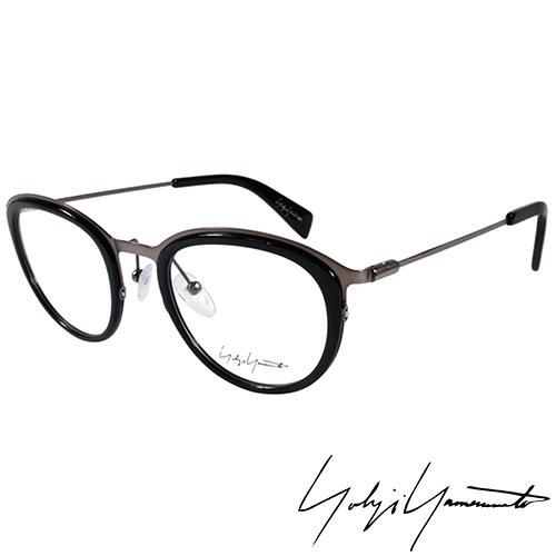 Yohji Yamamoto 山本耀司 金屬復古圓框光學眼鏡~黑銀~YY1023~019